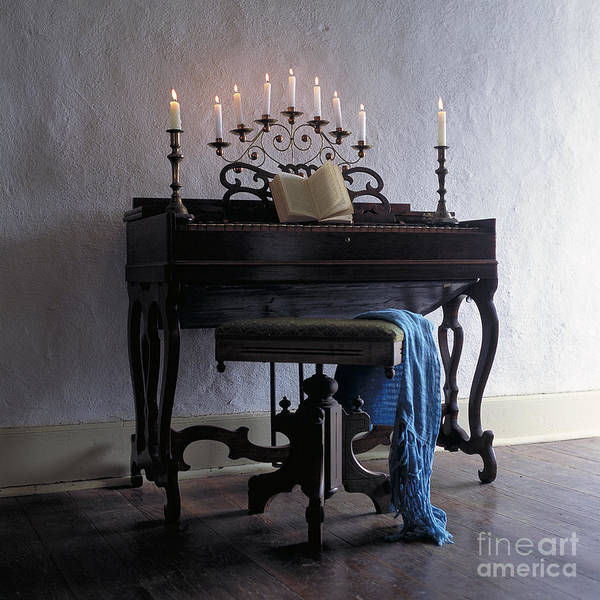 Photograph - Piano With Candelabra by Kathleen Gauthier