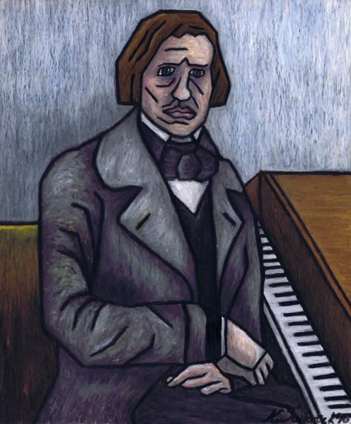 Wall Art - Painting - Piano's Finest Poet Fryderyk Chopin by Kamil Swiatek