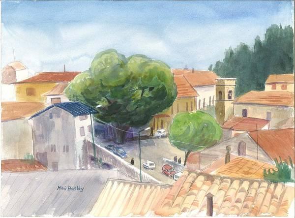 Piazza Carmina Borelli In Sersale Art Print