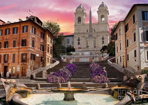Rome Wall Art - Digital Art - Piazza Di Spagna by MGL Meiklejohn Graphics Licensing