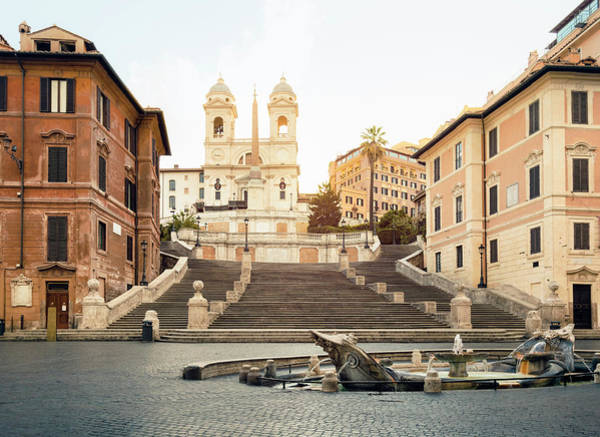 Church Photograph - Piazza Di Spagna, Spanish Steps, Rome by Spooh