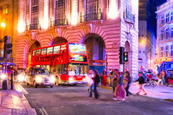 Photograph - Piccadilly Circus By Night - London by Mark Tisdale