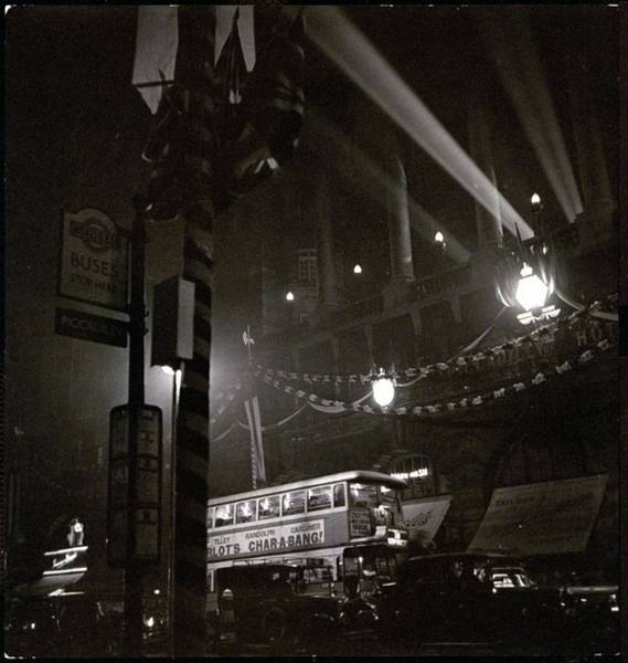 Urban Scene Photograph - Piccadilly Circus by Roger Schall