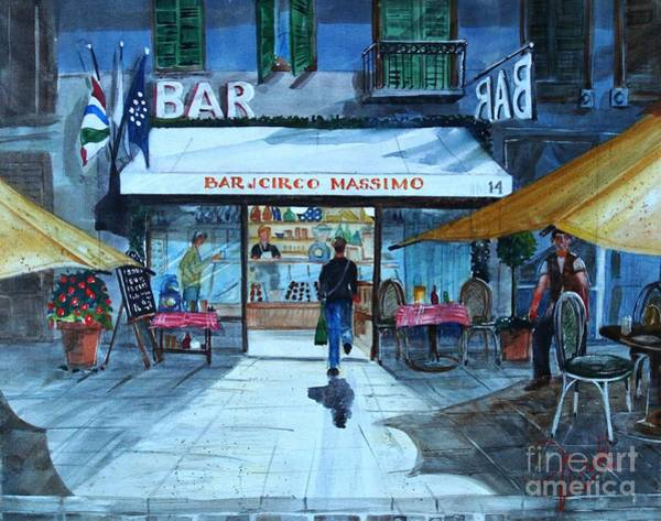 Painting - Piccolo Bar Circo Massimo by Gerald Miraldi