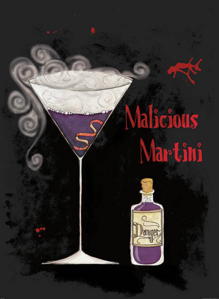 Martini Glasses Painting - Pick Your Poison I by Elyse Deneige