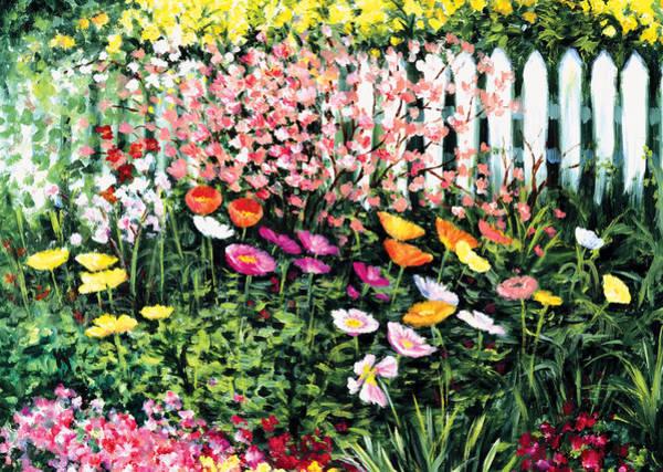 Painting - Pickets N' Poppies by Lynn Buettner