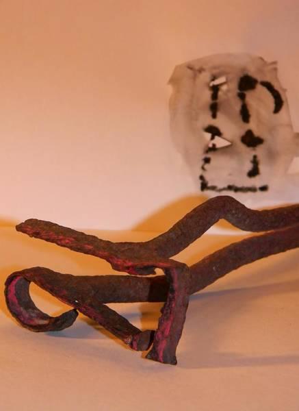 Branding Iron Photograph - Pickett Branding Iron by Warren Thompson