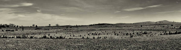 Wall Art - Photograph - Picketts Charge From Seminary Ridge In Black And White by Joshua House