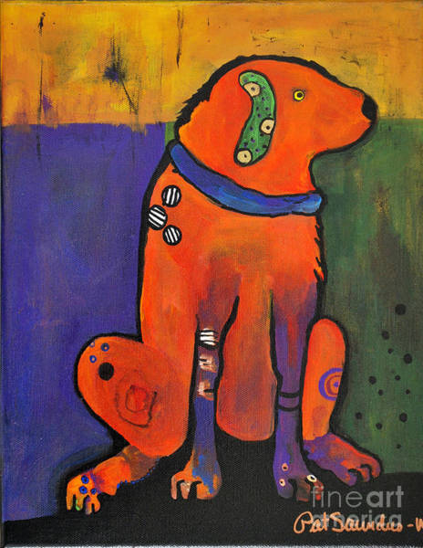 Painting - Pickle Dog by Pat Saunders-White
