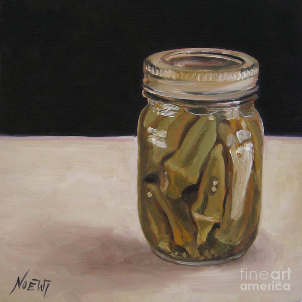 Pickled Okra Art Print