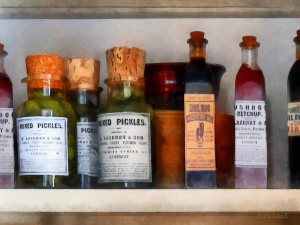 Photograph - Pickles Ketchup And Worcestershire Sauce by Susan Savad