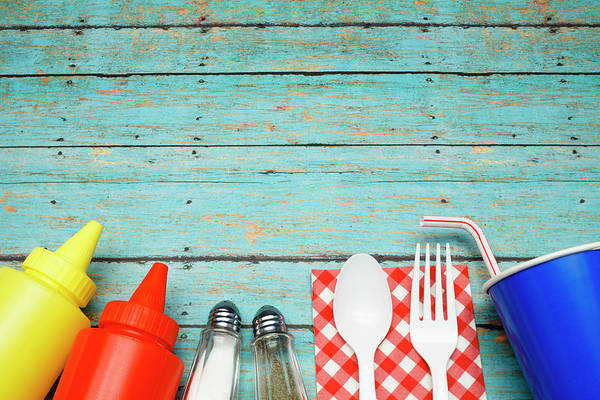 Drinking Glass Photograph - Picnic Essentials by Dustypixel