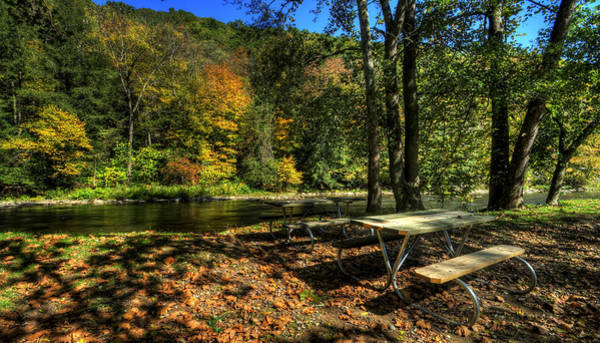 Photograph - Picnic On The River by David Dufresne
