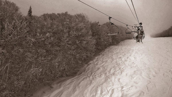 Boarding Pass Photograph - Pico Ski Resort 5 by Patsy Zedar