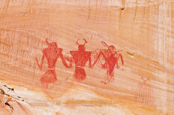 Highway 12 Wall Art - Photograph - Pictograph Panel Along Calf Creek by Russ Bishop