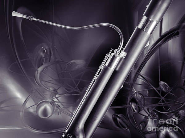 Photograph - Bassoon Music Instrument Fine Art Prints Canvas Prints Greeting Cards In Color 3409.02 by M K Miller