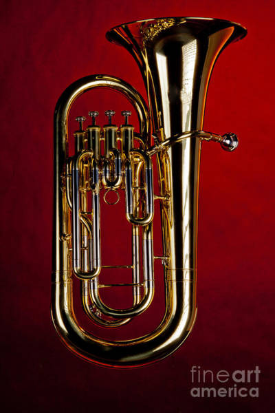 Wall Art - Photograph - Picture Of Bass Tuba Brass Instrument In Color 3394.02 by M K Miller