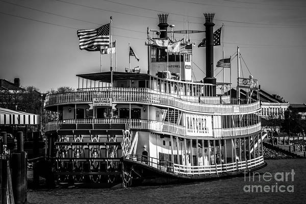 Mississippi River Photograph - Picture Of Natchez Steamboat In New Orleans by Paul Velgos