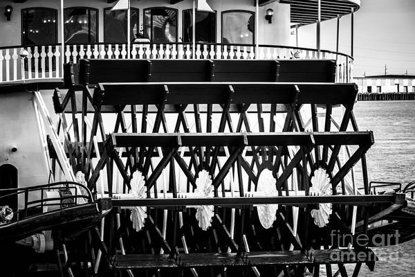 Steam Boat Photograph - Picture Of Natchez Steamboat Paddle Wheel In New Orleans by Paul Velgos