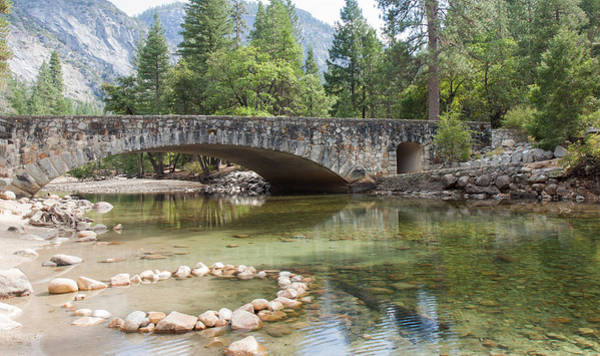 Photograph - Picturesque Bridge In Yosemite Valley by John M Bailey