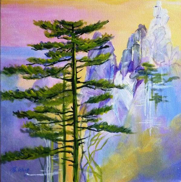 Painting - Picturesque Pines by Betty M M   Wong