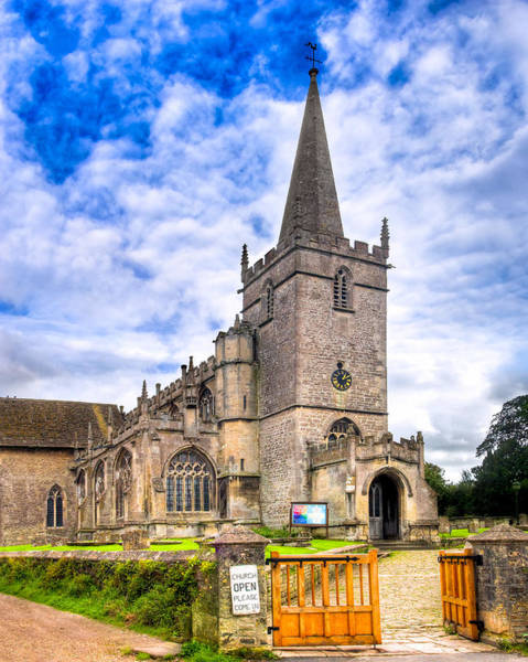 Photograph - Picturesque Village Church In Lacock England by Mark Tisdale