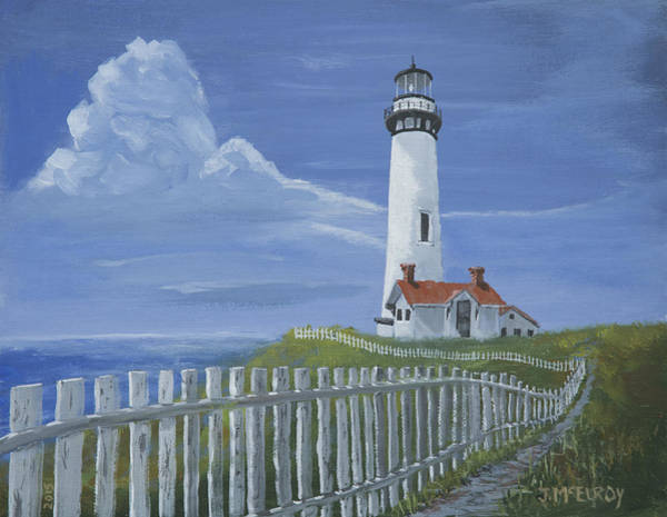 West Point Painting - Pigeon Point Lighthouse by Jerry McElroy