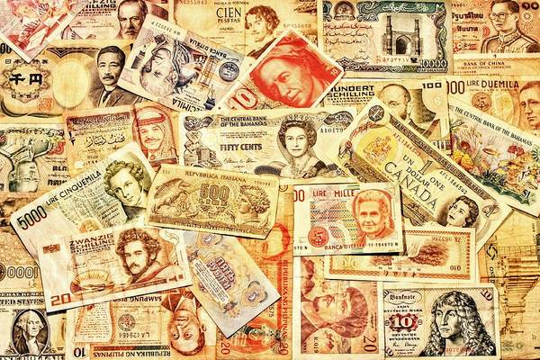 Legal Tender Photograph - Pieces Of Paper by Benjamin Yeager