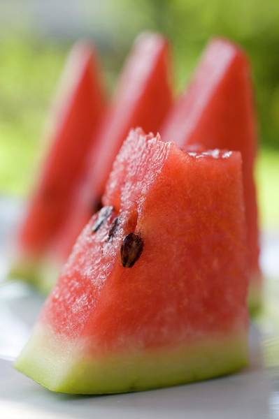 Watermellon Wall Art - Photograph - Pieces Of Watermelon by Foodcollection