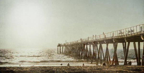 Photograph - Pier Approaching Sunset by Kevin Bergen