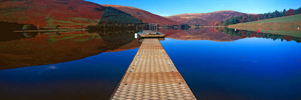 St. Marys Photograph - Pier At A Lake, St Marys Loch, Scottish by Panoramic Images