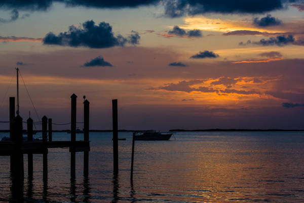 Photograph - Pier At Buttonwood Sound by Ed Gleichman
