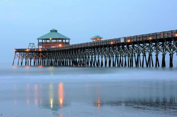 South Carolina Photograph - Pier At Folly Beach by Aimintang