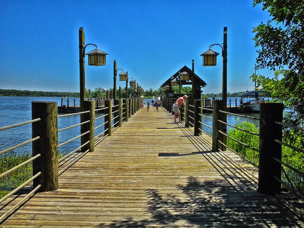 Wdw Photograph - Pier At Fort Wilderness by Thomas Woolworth