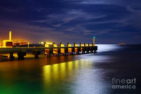 Wall Art - Photograph - Pier At Night by Carlos Caetano