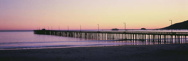 Wall Art - Photograph - Pier At Sunset, Avila Beach Pier, San by Panoramic Images