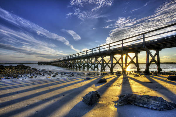 Wall Art - Photograph - Pier At Sunset by Eric Gendron