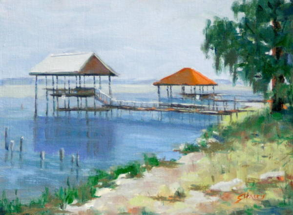 Gulf Shores Alabama Painting - Pier At Wendy's Way by Sandra Harris