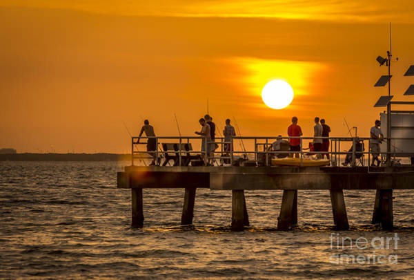 Offshore Wall Art - Photograph - Pier Fishing by Marvin Spates