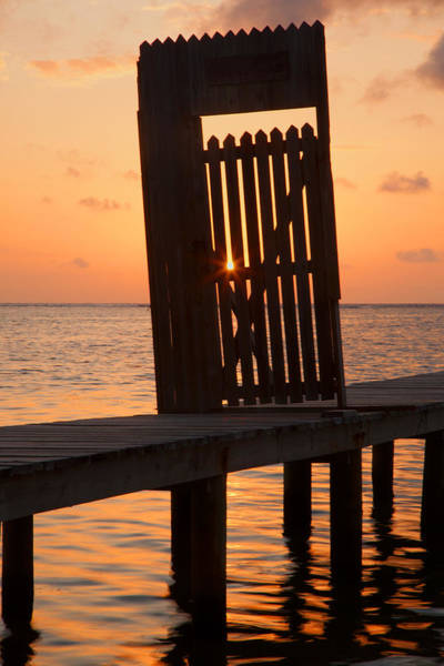 Photograph - Pier Gate At Sunset by Susan Rovira