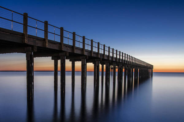 Photograph - Pier In Blue by Steve Myrick