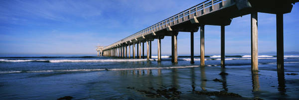 Scripps Pier Photograph - Pier In The Pacific Ocean, Scripps by Panoramic Images