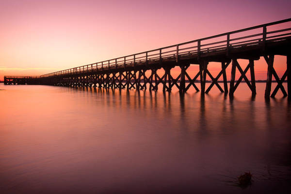 Pier Into The Distance Art Print