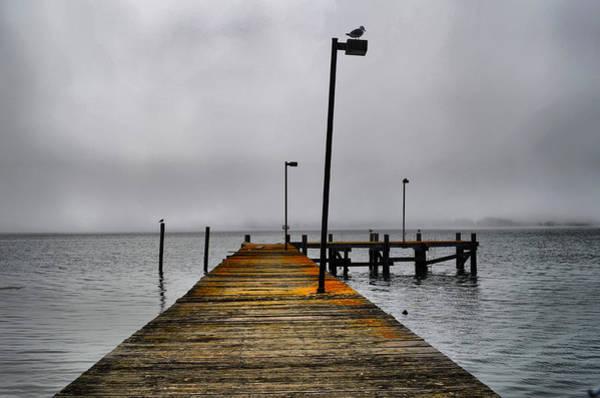 Pier Into The Fog Art Print