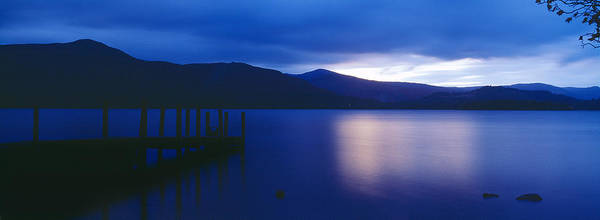 Peacefulness Photograph - Pier On A Lake, Derwentwater, Lake by Panoramic Images
