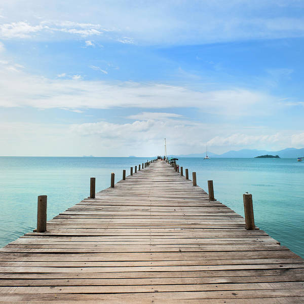 Thailand Photograph - Pier On Koh Samui Island In Thailand by Pidjoe