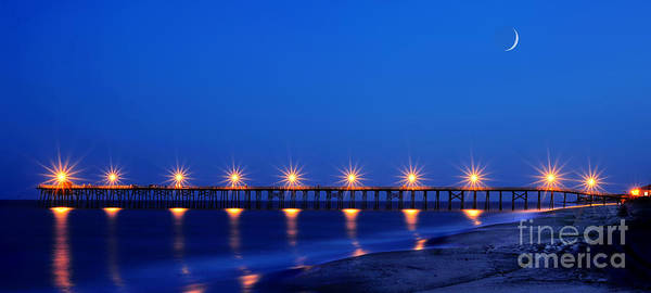 Photograph - Pier On Ocean Near Southport Nc Panoramic by Dan Friend