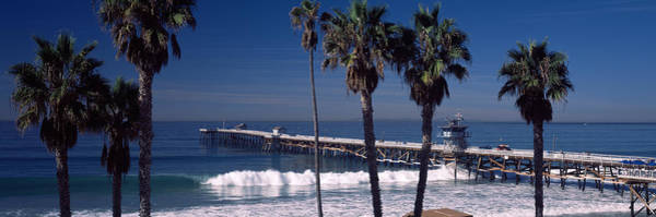 Clemente Photograph - Pier Over An Ocean, San Clemente Pier by Panoramic Images