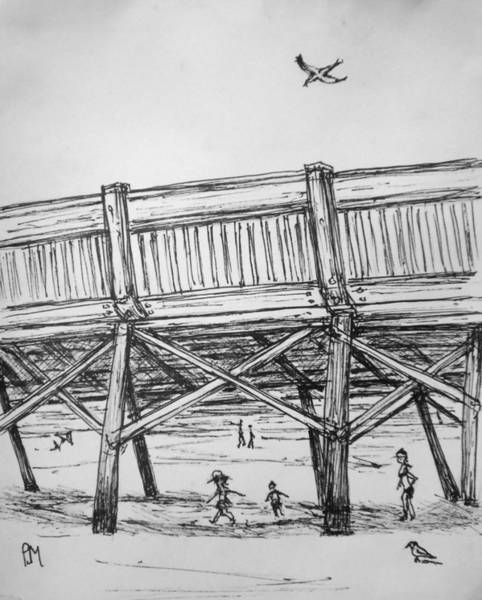Pier Drawing - Pier Pressure by Pete Maier