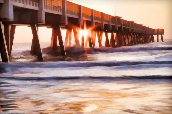Photograph - Pier Sunrise Too by Alice Gipson